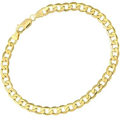 Citerna 9ct Yellow Gold Chunky Double Curb Bracelet - 7mm width g4RfOLofM