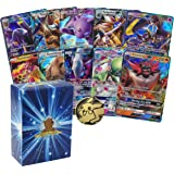 10 Assorted Pokemon Cards - 10 GX Ultra Rare Cards, with No Duplication + 1 Assorted Collectible Pokemon Coin - Includes Gold