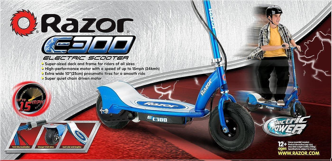 Amazon.com: Razor E300 – Patinete eléctrico (– Azul: Clothing