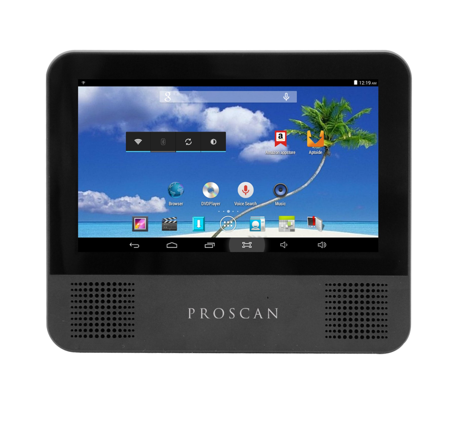 Proscan PLTDVD7200 7-Inch - 2-in-1 Android Tablet and Portable DVD with Car Kit by PROSCAN