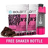 Boldfit Super Women's Whey Protein Powder For Women with Ayurvedic Herbs for Hair Skin and Nails support, No Added Sugar, Ideal for weight loss & slim body, Keto Friendly (FREE SHAKER BOTTLE)