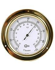 Barigo Tempo Brass Thermometre