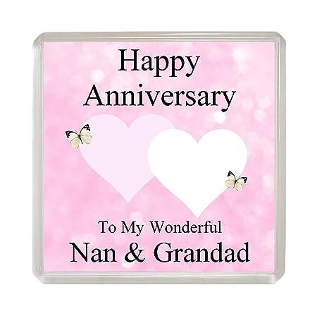 Imán Para Nevera Con La Frase En Ingles Happy Anniversary