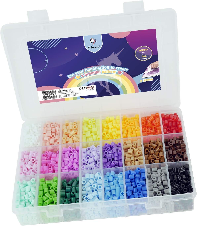 La Manuli Bügelperlen 11000 Stück 5 mm 36 Farben  Set von Hama Beads kompatibel