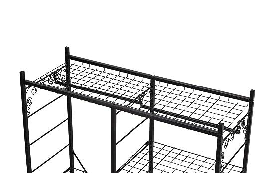NEUN WELTEN Perchero de Acero Resistente con Estantes Ajustables y Ruedas 116,7 x 44 x 166 cm (Barra doble)