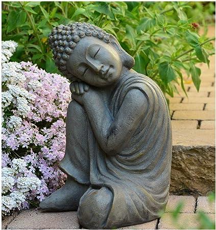 INtrenDU® Buda - Figura Decorativa China (43 cm, decoración Zen para Interior y Exterior, Jardín Zen, Feng Shui): Amazon.es: Jardín