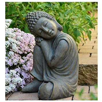 INtrenDU Bouddha Statuette Chinois 43 cm décoration Zen pour ...
