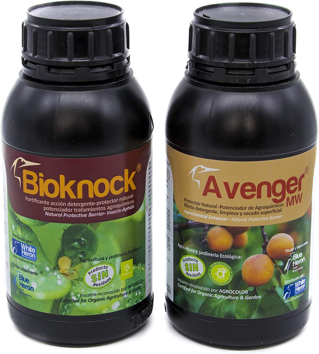 Pack BIOKNOCK® +Avenger® (500 m2). Perfil Insecticida Bioracional-Insectos/Pulgón/Hongos; Fito-fortificantes a Base extractos y aceites Vegetales - Fertilizantes Especiales, Polivalente. Ecológico