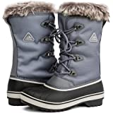Aleader Women's Warm Faux Fur Lined Mid Calf Winter Snow Boots