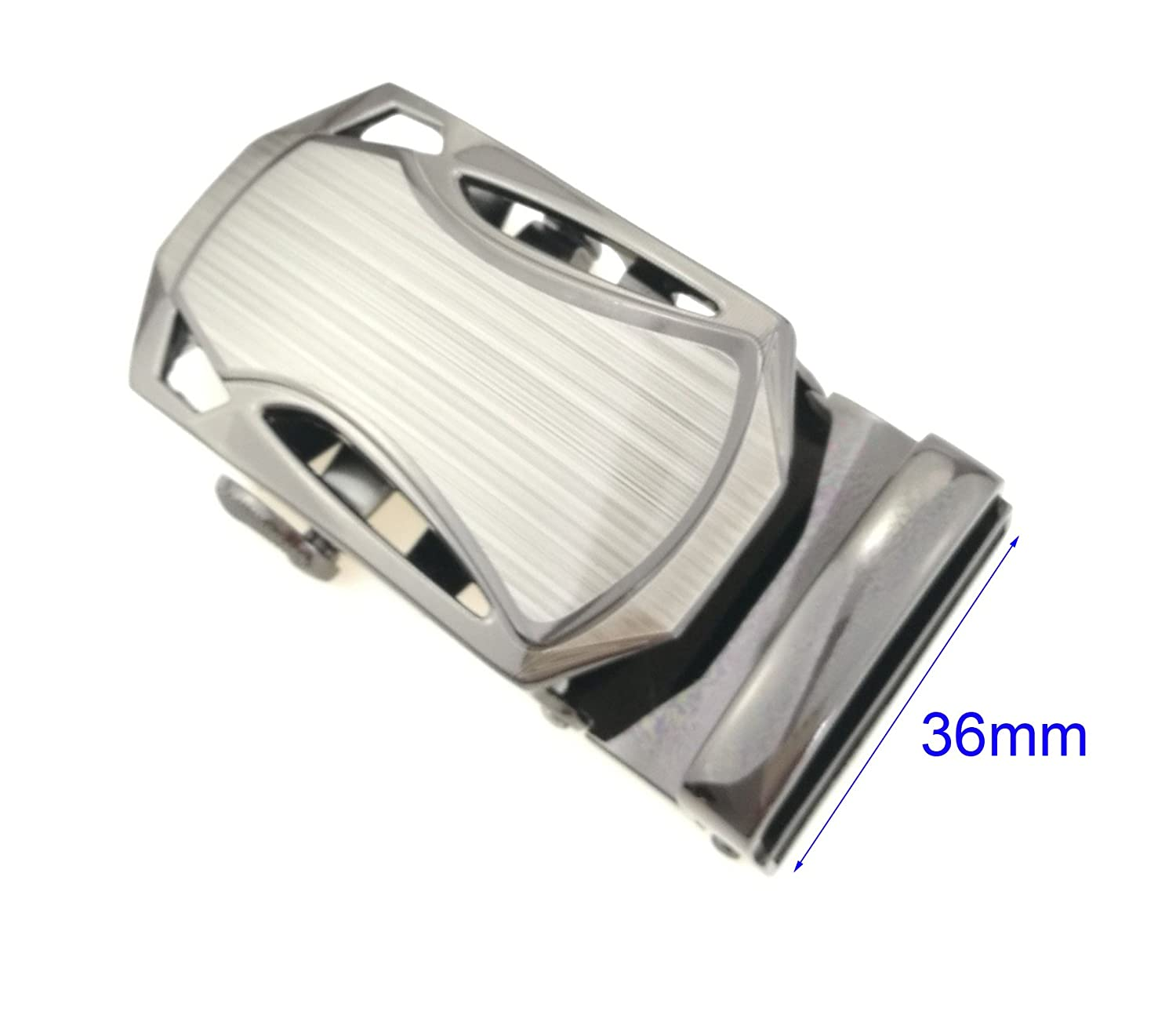 Mens Solid Luxury Designer Buckle Automatic Ratchet Leather Belt Buckle,Automatic Buckles