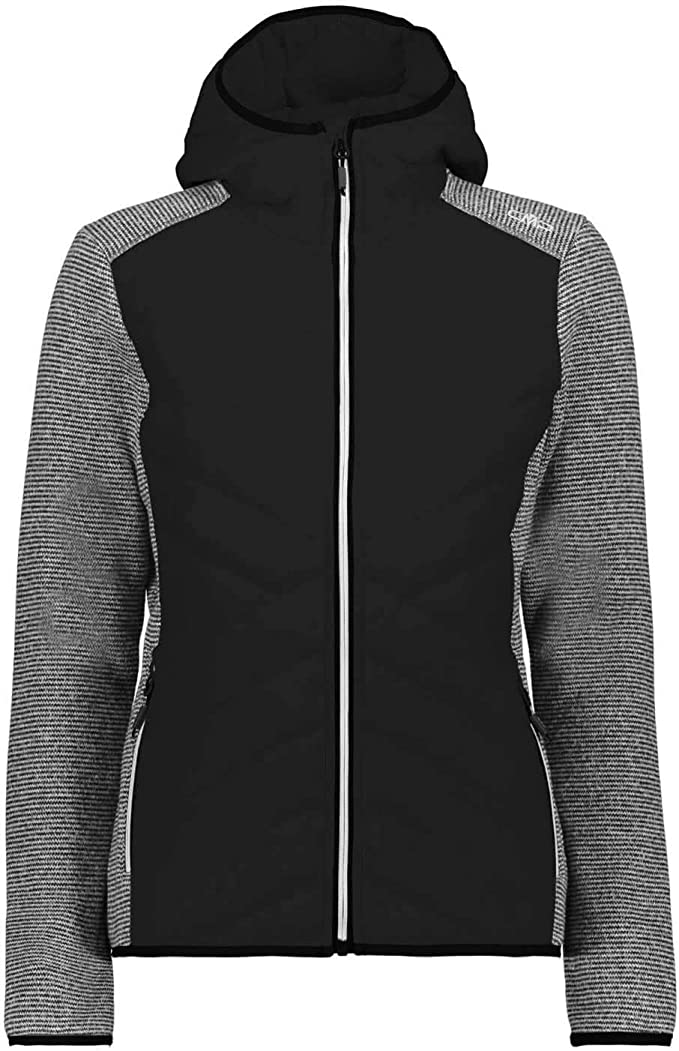 cmp damen hybrid fleece jacke fix hood hybrid 39h0526