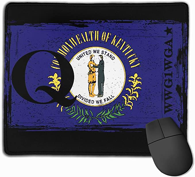 Amazon Com Kentucky Flag Qanon Wwg1wga Great Awakening Anti Slip Gaming Mouse Pad Mat Mice Mousepad For Computers Laptop Office Products