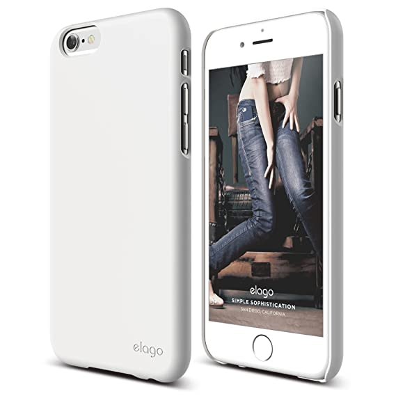 wholesale dealer b8fb5 1631c iPhone 6 Case, elago [Slim Fit 2][White] - [Light][Minimalistic][True Fit]  – for iPhone 6 Only