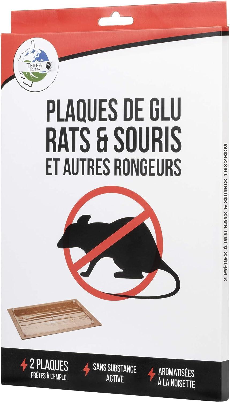 Terra Nostra placa Glu, raticide, Souricide, ratón, anti-rat, marrón