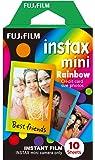 FUJIFILM インスタントカメラ チェキ用フィルム 10枚入 絵柄 (レインボー) INSTAX MINI RAINBOW WW1