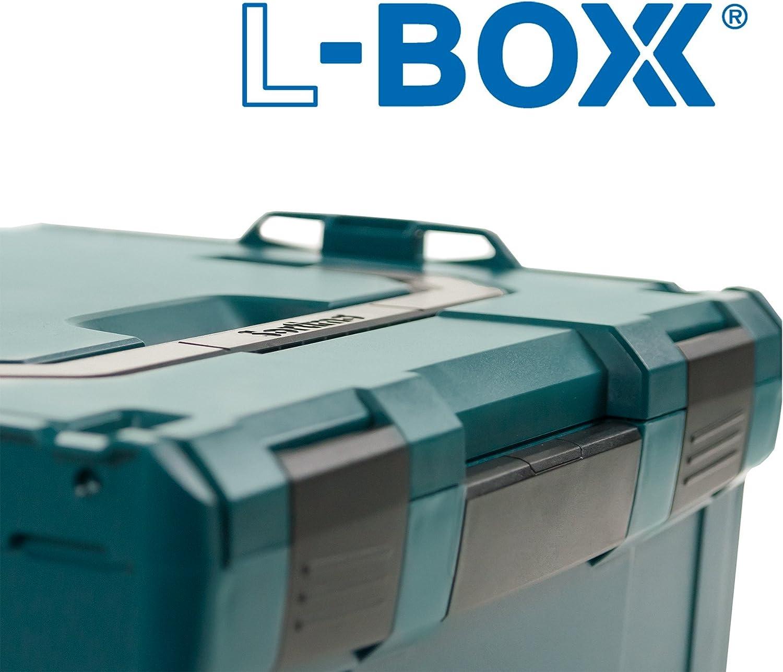 Gr/ö/ße 102-374 in Gr/ün Bosch Sortimo L-Boxx Werkzeugkoffer Set Kompatibel mit L-Boxx Bosch Werkzeugkoffer Leer