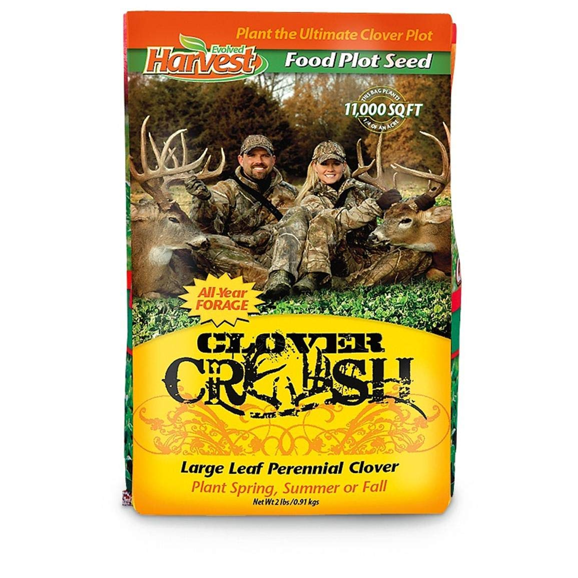 Two 2-lb. Bags of Evolved Habitats Clover Crush