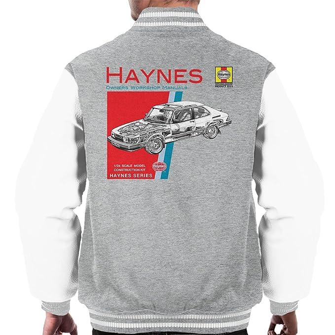 Haynes Owners Workshop Manual 0765 Saab 900 Turbo Mens Varsity Jacket: Amazon.es: Ropa y accesorios