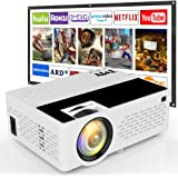 TMY V08 Projector with Projection Screen, 4500 Lux Portable Video Projector Full HD 1080P Supported, HD Mini Projector Compatible with TV Stick HDMI VGA USB TF for Home Cinema & Outdoor Movie, White.