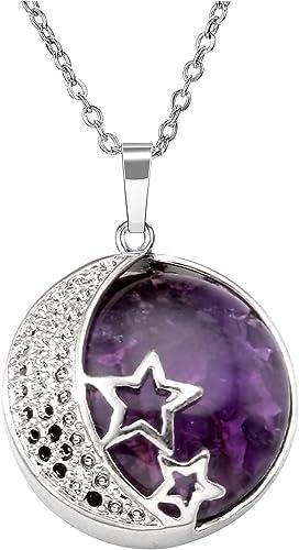 QUARTZ CRYSTAL cluster Star charm necklace  moon necklace  moon necklace  sparkle  magic  18 preorder