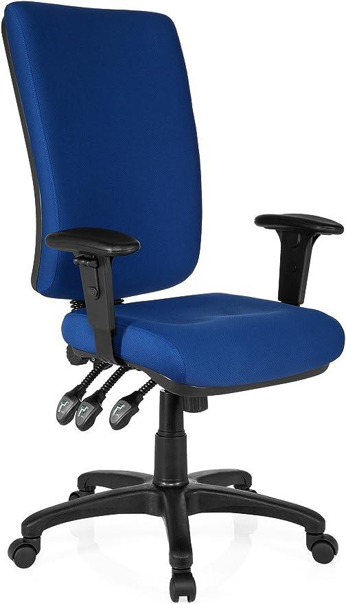 hjh OFFICE 702110 Profi Bürostuhl ZENIT HIGH Stoff Blau