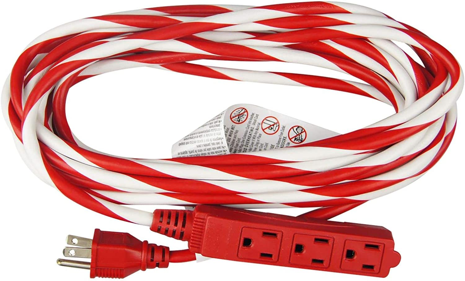 Ships free! Hyper Tough 25/' Exterior Rated Extension Cord with 3 prong outlet