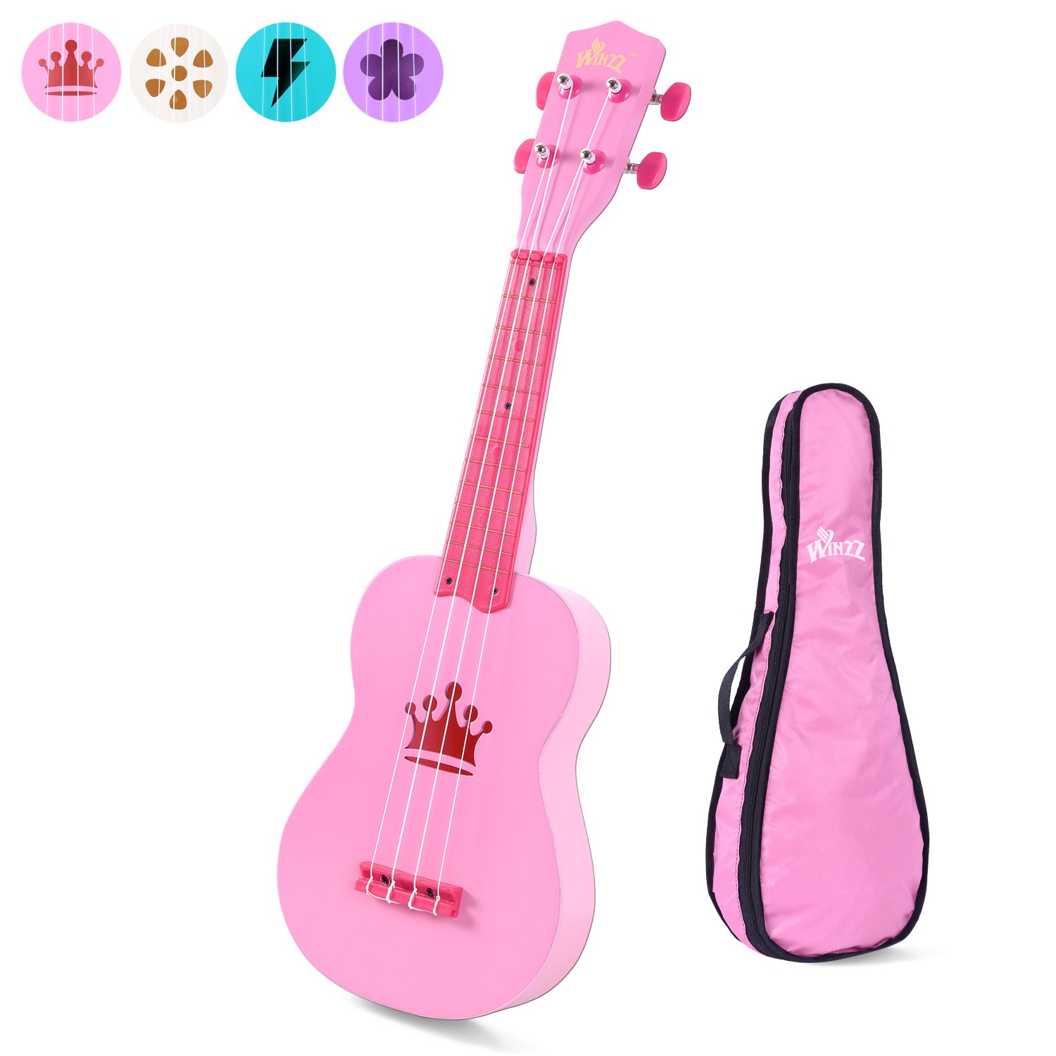 Aileen Beginner Ukulele 21 Inch Soprano Kids Starter Ukuleles Bundle with Gig Bag, Blue