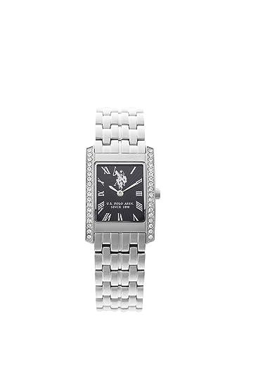 US Polo Association USP5232BK - Reloj Analógico Para Hombre, color Blanco/Marrón