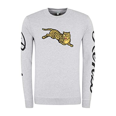 Kenzo Mens Pearl Grey Jumping Tiger Sweatshirt at Amazon Mens Clothing store:
