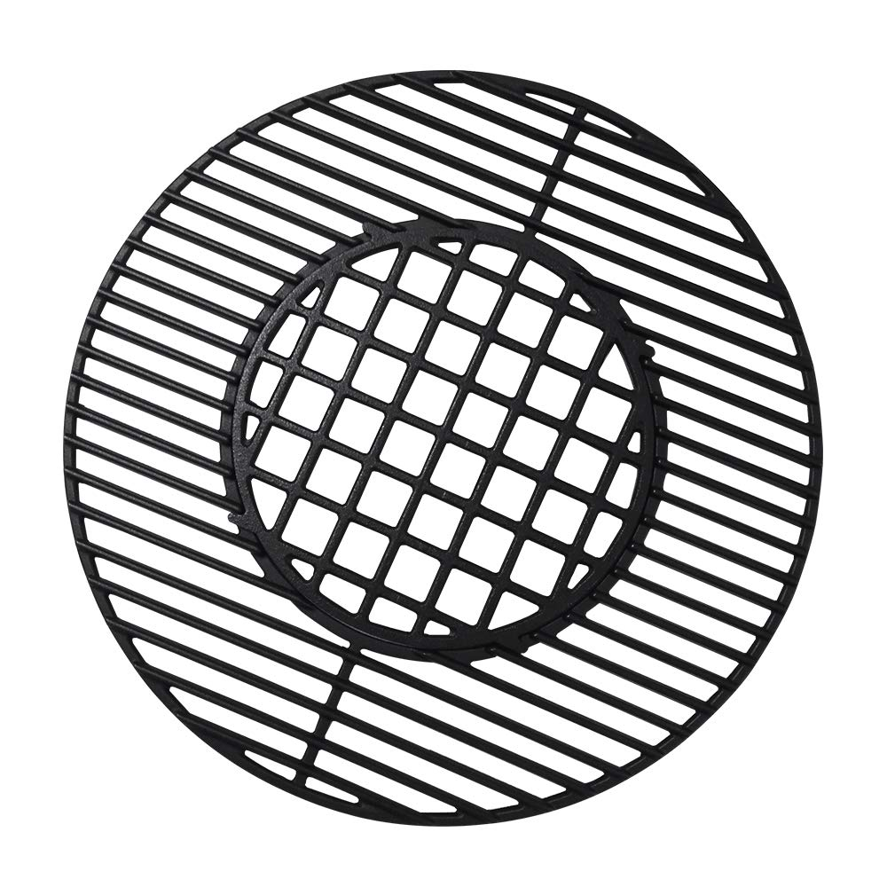 Gill Valueparts 8835, 22 Inch Grate Matte Enamel Cast Iron for Weber Original Kettle Premium 22 Inch Charcoal Grill, 22 inch Weber Performer Charcoal Grill, 22'' Smokers by Grill Valueparts