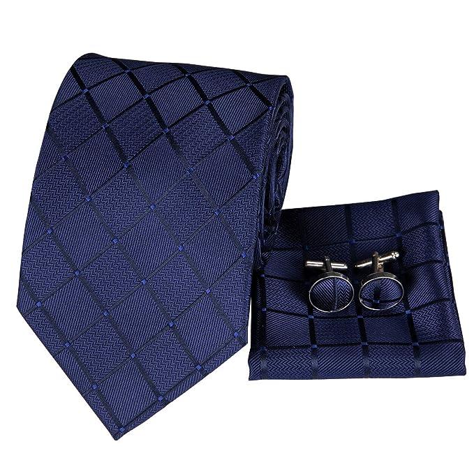 11700140cd886 Set Hi-Tie de pañuelo y corbata de seda y de gemelos