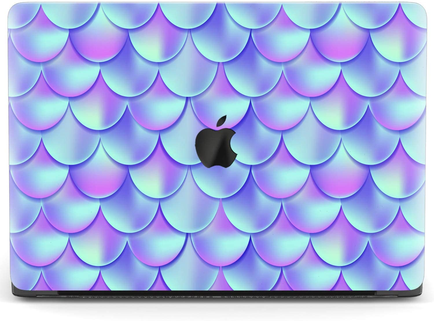 Mertak Hard Case for Apple MacBook Pro 16 Air 13 inch Mac 15 Retina 12 11 2020 2019 2018 2017 Plastic Scales Design Pattern Mermaid Fish Simple Clear Laptop Touch Bar Protective Geometric Cover Cute