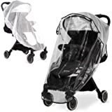 Hrzeem Universal Stroller Rain Cover and Mosquito Net (2 Pieces), Travel Weather Shield for Windproof, Waterproof, Protect fr