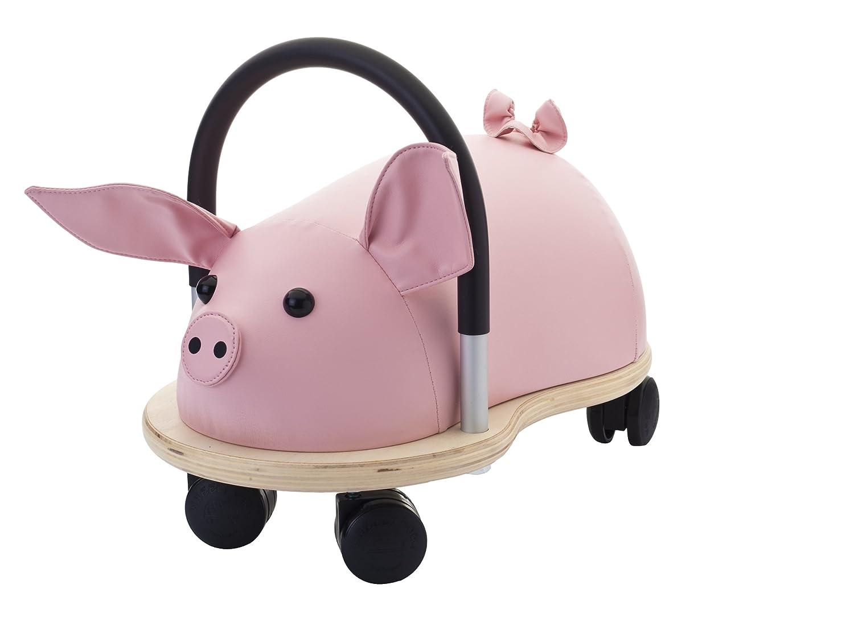 Wheely Bug 51110S Ferkel groß, großes Holzschwein auf Rollen mit Griff, ultimatives cooles Rutschauto, Spaß Car - Auto für jedes Kind Wheelybug WBPIGL