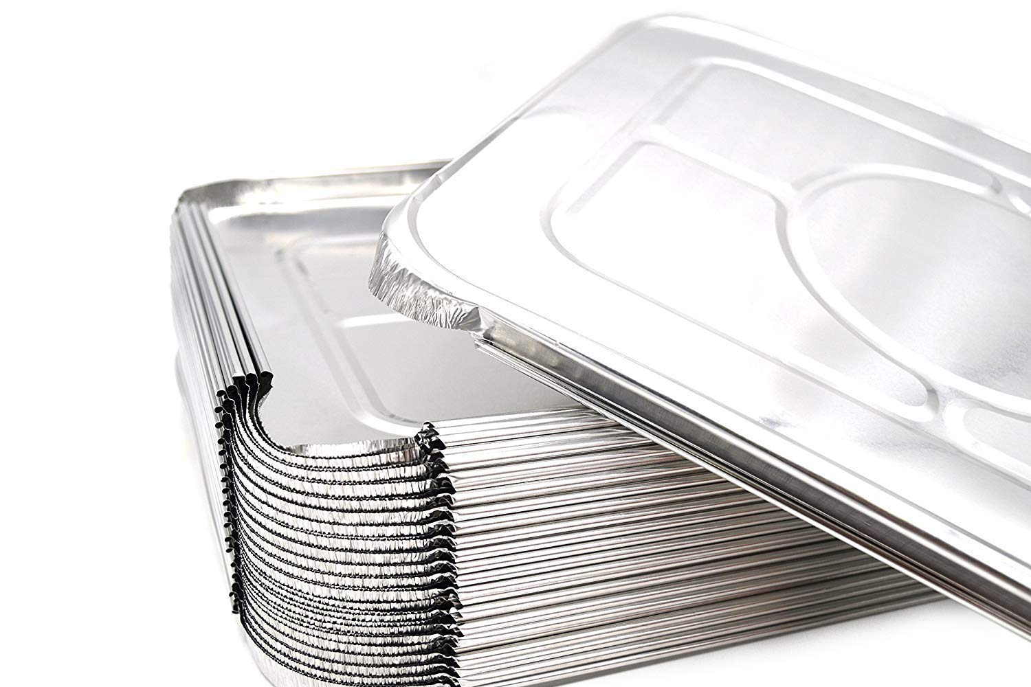 """Premium Lids for Lasagna Pans 14 x 10 x 3/"""" Heavy Duty l 26 Gauge l Top Baker/'s Choice Disposable Aluminum Foil for Roasting Potluck Reheating Catering Party BBQ Baking 30 Pack Fig /& Leaf"""