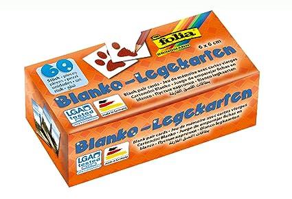 Folia 2311 Memory Karten Blanko Legekarten Ca 6 X 6 Cm 60 Stück Zum Selbst Bemalen Und Bekleben