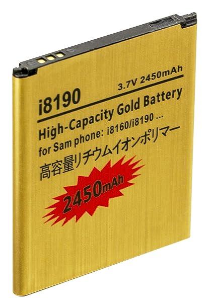 Amazon.com: 2450mAh Bateria Dorada de Alta Capacidad para ...