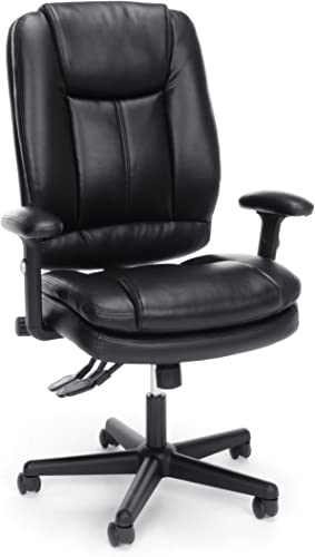 OFM Essentials Collection Ergonomic High-Back Bonded Leather Executive Chair, in Black ESS-6050