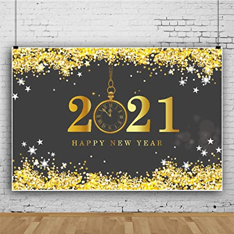 New 2021 New Year Party Background 2.1x1.5m New Year Fireworks Display Photography Background Happy New Year Photos 2021 New Year Celebration Background A25