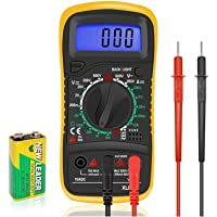 Digital Multimeter LCD Electrical Test Meter Volt Ammeter OHM AC DC Battery Circuit Multi Tester Checker Buzzer with…