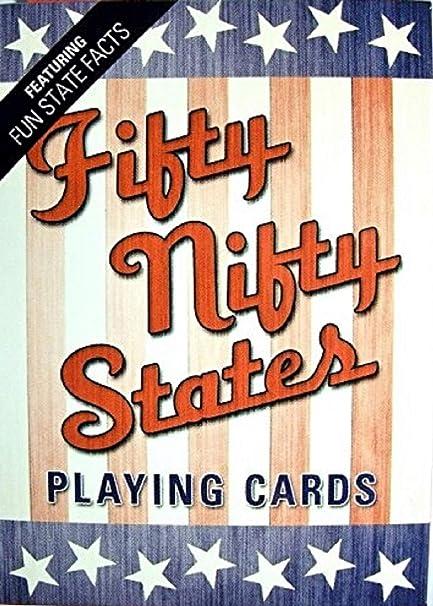 Amazon.com: Fifty Nifty Estados Juego de cartas: Sports ...
