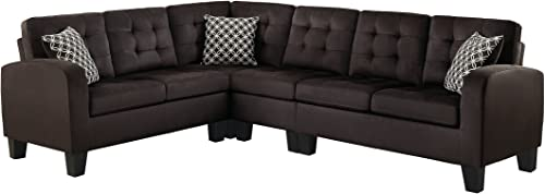 Homelegance Sinclair 84″ x 107″ Fabric Sectional Sofa