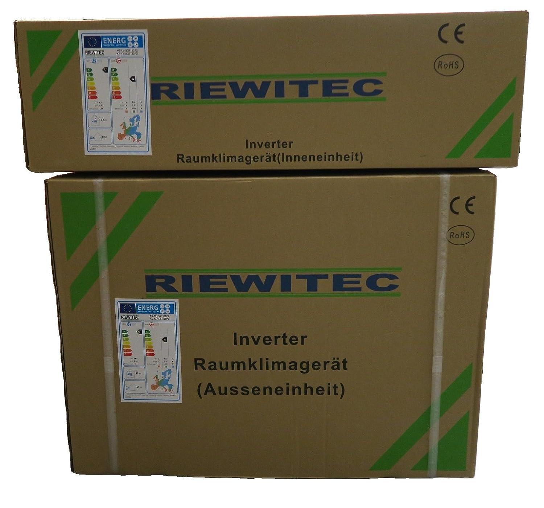 Inverter split aire acondicionado RIEWITEC AUS-12H53R150PZ, (3.55/3.8 KW refrigeración - u, de potencia): Amazon.es: Bricolaje y herramientas