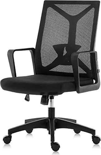 SEATZONE Office Desk Chair Ergonomic Computer Foldable Chair Lumbar Support Breathable Mesh Executive Chair