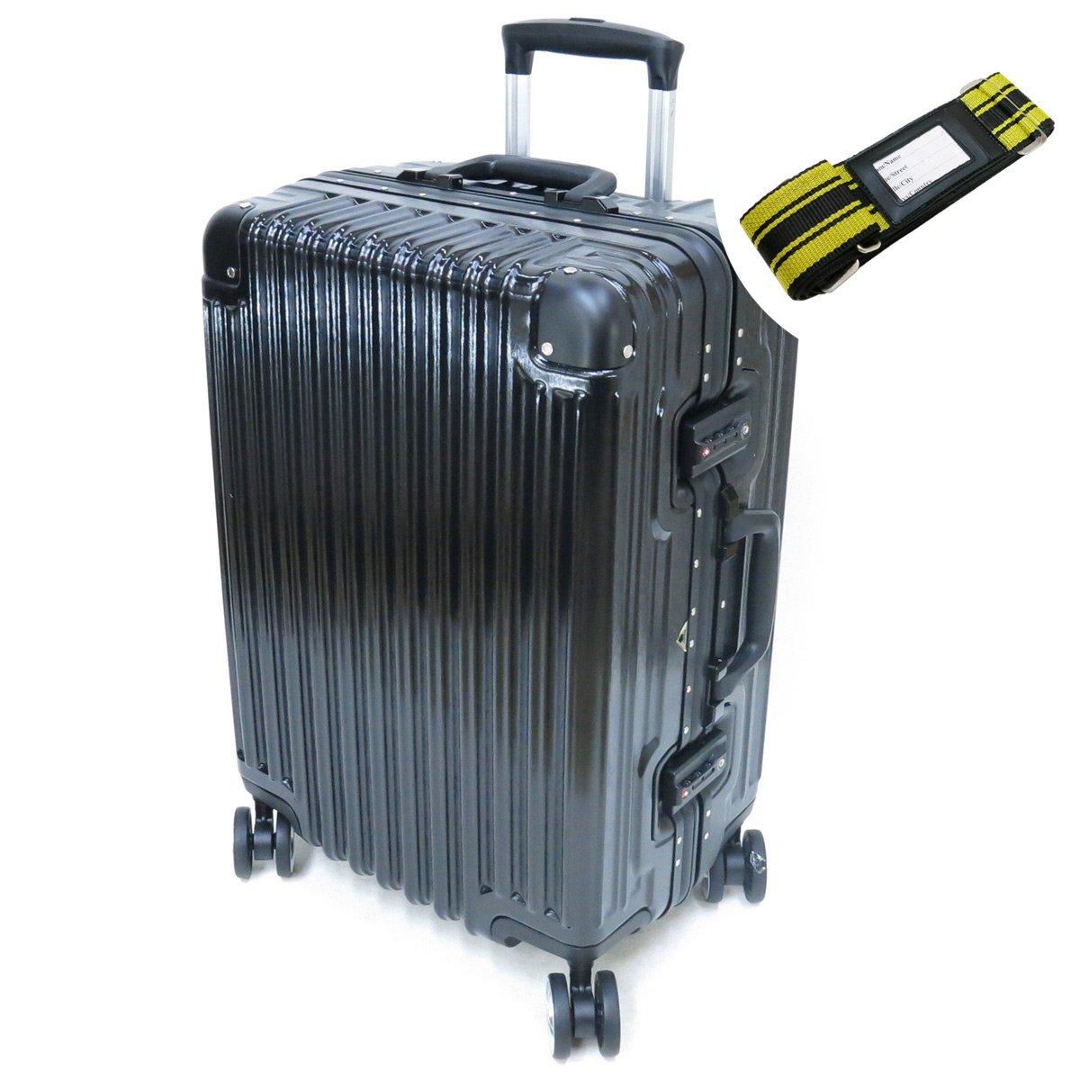 [セット品] (シフレ トライデント) siffler TRIDENT TRI1030-52 スーツケース 受託手荷物無料サイズ(カバンクラブ) 鞄倶楽部 59013 スーツケースベルト 【合計2点セット】 B071NTMCCG ブラック ブラック