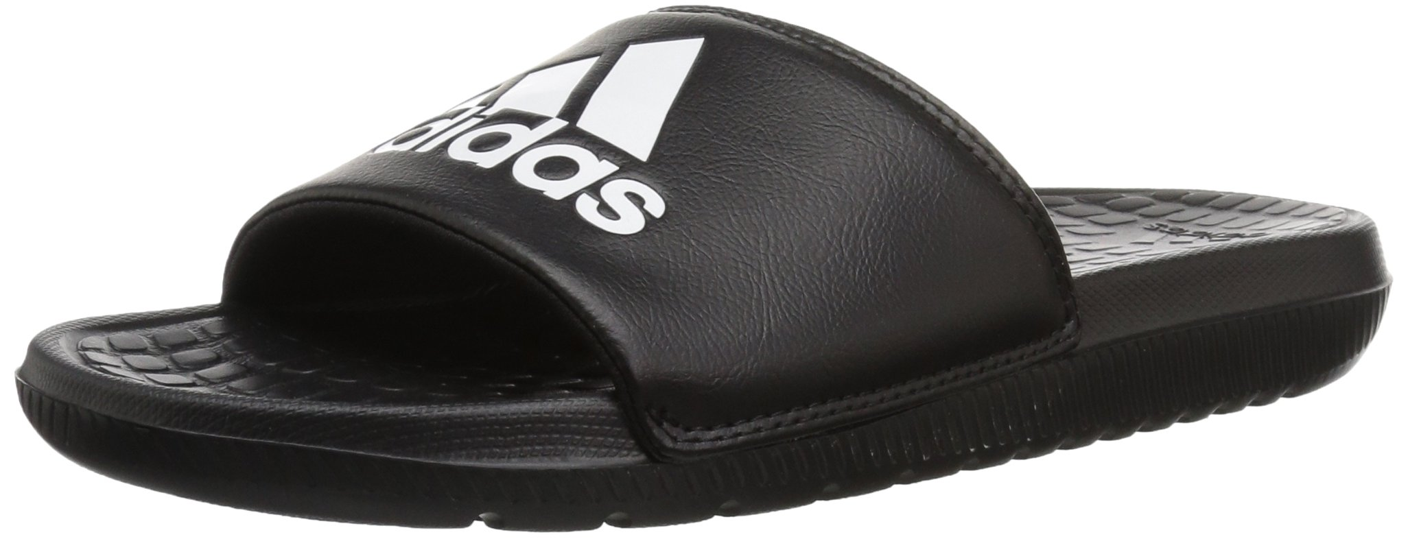 adidas Men's Voloomix Slide Sandal, Black/White/Black, 11 M US by adidas