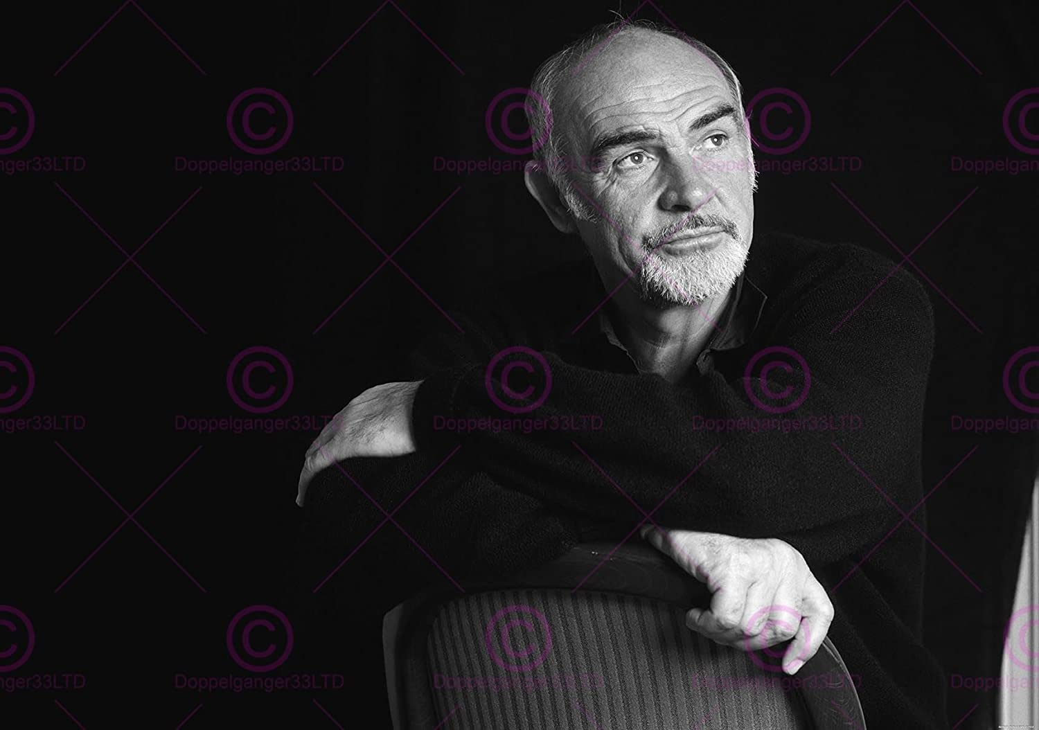 Amazon Com Doppelganger33ltd Photograph Portrait Actor Sean Connery James Bond Poster Art Print Lv11029 Posters Prints