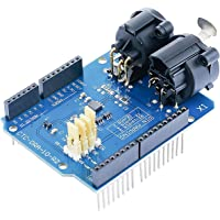 CQRobot DMX Shield MAX485 Chipset for Arduino (RDM Capable), Arduino Device Into DMX512 Network. LED/Music Remote Device Management Capable, Extended DMX Master and Slave Arduino Device Functions.