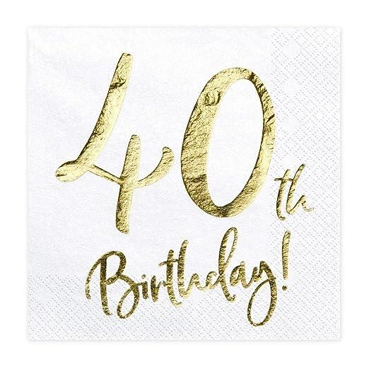 Servilletas de papel para fiesta de 40 cumpleaños, 20 ...