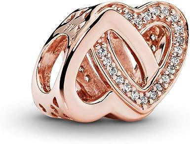 Pandora Jewelry Entwined Hearts Cubic Zirconia Charm in Pandora Rose